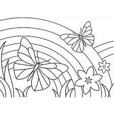 Rainbow coloring page from natural phenomena category. Free Printable Rainbow Coloring Pages For Kids Art Hearty