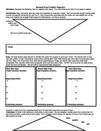 Research Paper Graphic Organizer Angel Parts Of A Paper Writing