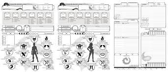 hero forge character sheet oc custom character sheet 5th v1 2 dnd