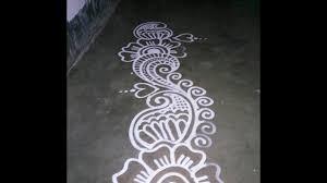 Border Alpana Design Border Alpana Design For Manabasa Gurubara Laxmi Puja Youtube