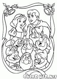 ぬりえ 白雪姫と新年