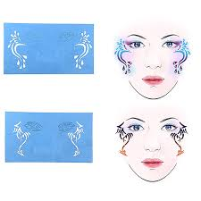 6sets reusable face paint templates for airbrush makeup painting temporary tattoo stencils for party