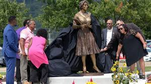 Statue to honor Katherine Johnson installed at alma mater West Virginia  State - Daily Press