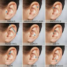 Ear Piercing Chart For Anxiety Pin By Giorgia