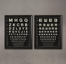 Herman Snellen Vintage Eye Charts Letters Tumbling Alphabet Eye Exam Chart Optometry Ophthalmologist Exam Vision Chart Eye Chart Art