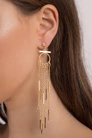 swing from the chandelier gold dangle earrings