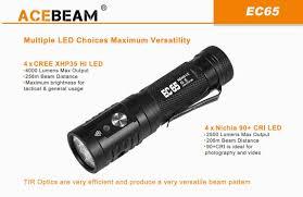 ACEBEAM EC65 - Đèn pin bỏ túi độ sáng khủng 4000lm pin 21700 Bán đèn pin  siêu sáng, đèn chuyên dụng chất lượng cao