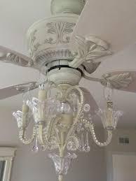 bonanza ceiling fan with crystal chandelier light kit com bead candelabra antique white