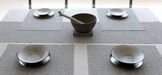 chilewich  table  placemats  runners  bouclé  mist (rectangle)
