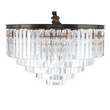 odeon chandelier odeon crystal fringe 3 tier chandelier chrome