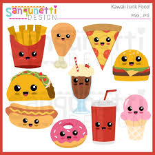 food clipart. Exellent Food Kawaii Junk Food Clipart Throughout