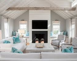 Beach Style Living Room Design Ideas Remodels Photos Mesmerizing Living Room Turquoise Remodelling