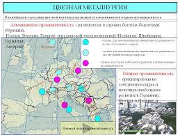 Металлургия в Европе Черная и цветная металлургии Тенденции развития Цветная металлургия