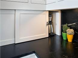 image of sliding door kitchen cabinet