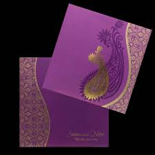 Weding Card Designs Elegant Purple Shading With Designer Theme Wedding Invitation Card Iq04780