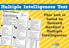 multiple test multiple intelligences test printable special needs autism