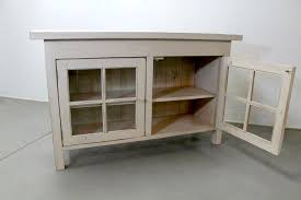 reclaimed wood media cabinet with glass doors