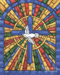 dove painting stained glass cross by debbie dewitt