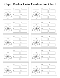 Copic Chart Printable Coloring Splendi Printable Copic Coloring Pages Pin By