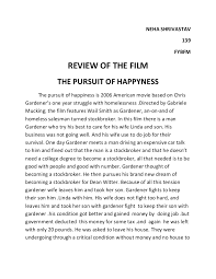 review of the film pursuit of happiness