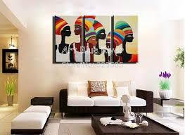living room canvas wall art lovely 3 piece modern canvas art handmade african women art oil