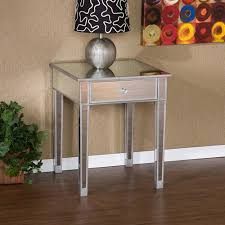 mirror accent table. illusions collection mirrored accent table mirror