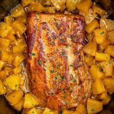 slow cooker pork loin pineapple recipe