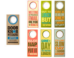 cool door hangers. Messages For Your Office Mates These Are Very And Will Spiceup Any Work Environment Images Via With Cool Door Hangers