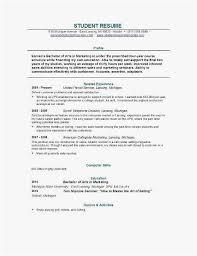 Resume Template For College Student Templates Graduate School Resume