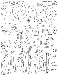 Kindness Coloring Pages Quote Doodle Art Alley