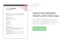 Pages Resume Templates Inspiration Creative Resume Templates For Mac Apple Pages ٩͡๏̯͡๏۶ Kukook