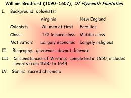 william bradford of plymouth plantation i background  william bradford 1590 1657 of plymouth plantation i background colonists