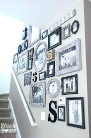 staircase gallery wall stairway decorating