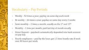 If You Get Paid Semi Monthly Pay Periods Hourly Rate Ppt Download