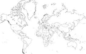 World Map Black And White Printable With Countries Blank World Map With Countries Stylish Decoration World Map Blank
