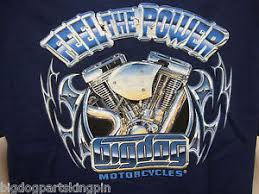 big dog motorcycles m feel the power shirt logo short sleeve front