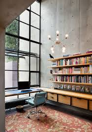 architecture simple office room. rho architects home office high ceilings steel windows tall room wall architecture simple w