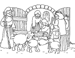 Kerst Kleurplaat Herders