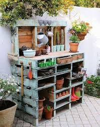 awesome outdoor potting table bench hayneedle c coast halstead wood with storage brown sink plan uk idea diy design