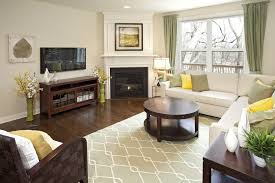 image of how to arrange living room furniture with fireplace and tv small