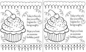 Black And White Birthday Cards Printable Birthday Cards Clipart Black And White