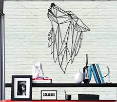 We literally have thousands of great products in all product categories. Amazon Com Metal Wall Art Geometric Wolf 3d Wall Silhouette Metal Wall Decor Home Office Decoration Bedroom Living Room Decor Sculpture 14 W X 24 H 36x61cm Everything Else