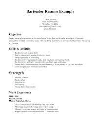 Bartender Resume Examples Sample Bartender Best Bartender Resume Delectable Server Bartender Resume