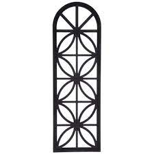 black window arch wood wall decor