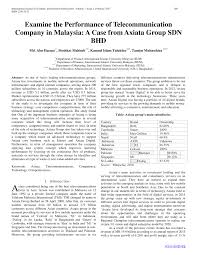 Pdf Examine The Performance Of Telecommunication Company In