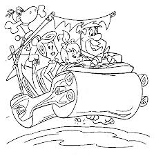 Small Picture Flintstones Coloring Pages Download And Print For Free Coloring Home
