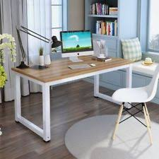 Long desks for home office Full Length Wall Computer Desk Pc Laptop Table Wood Workstation Study Home Office Furniture0 Overstock Home Office Furniture Ebay