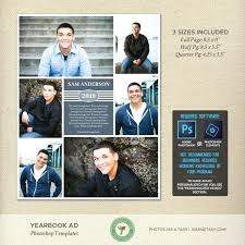 Ad Page Templates Senior Yearbook Page Templates