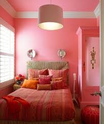 pink and orange bedroom photo - 1