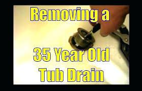 bathtub drain gasket replacing bathtub drain photo 8 of 9 removing a year old tub drain bathtub drain